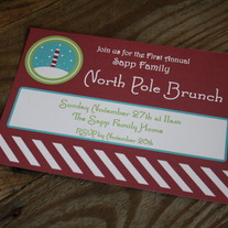 Printable North Pole Party Invitation - 5x7