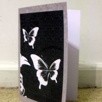 B&W Butterfly Card Pair