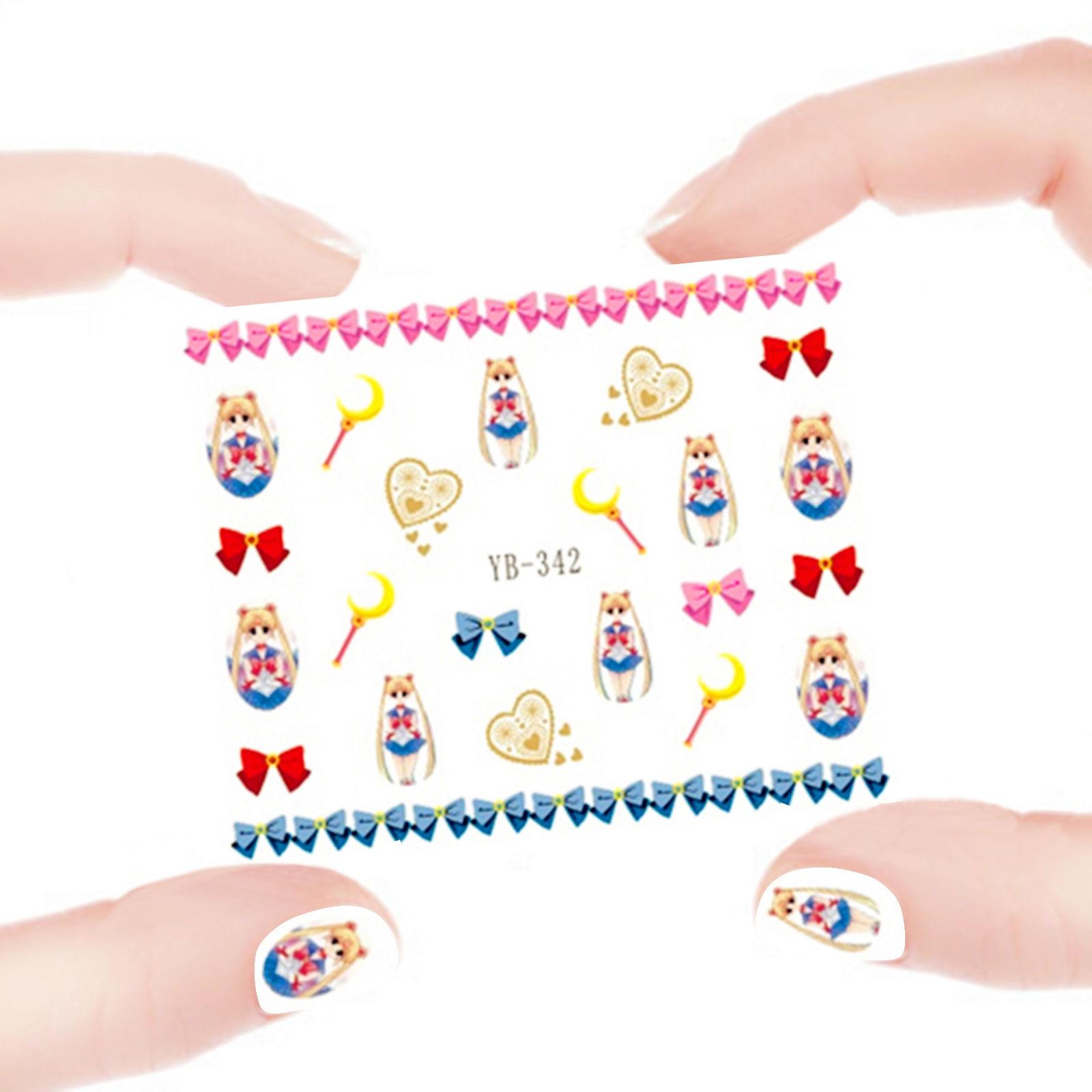 Sailor Moon Nail Art Sticker Decals Water Transfer ♥ DorkyDame ...