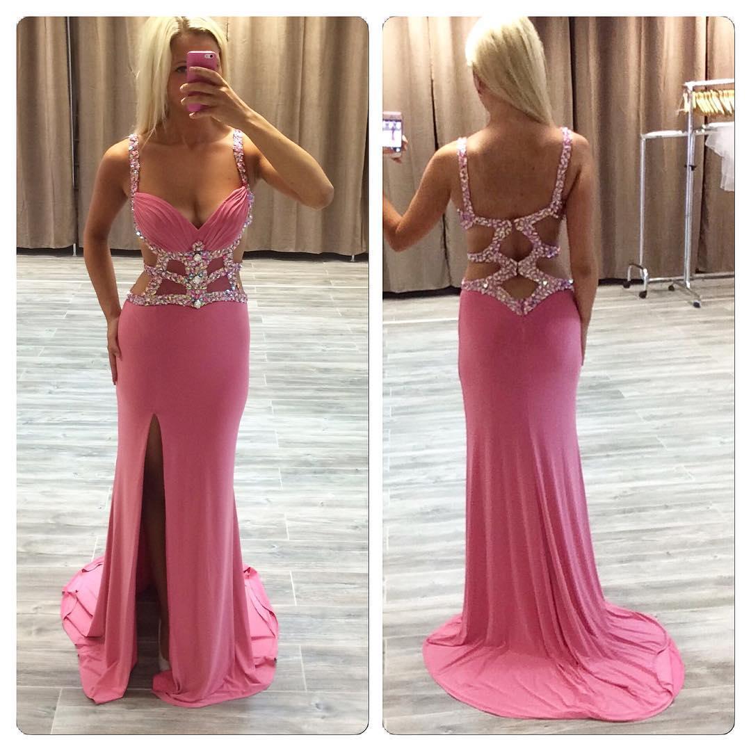 See through Mermaid Prom Dress