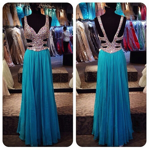 Fashion Long Prom Dress, Floor Length Party Dresses,Evening Dress ...