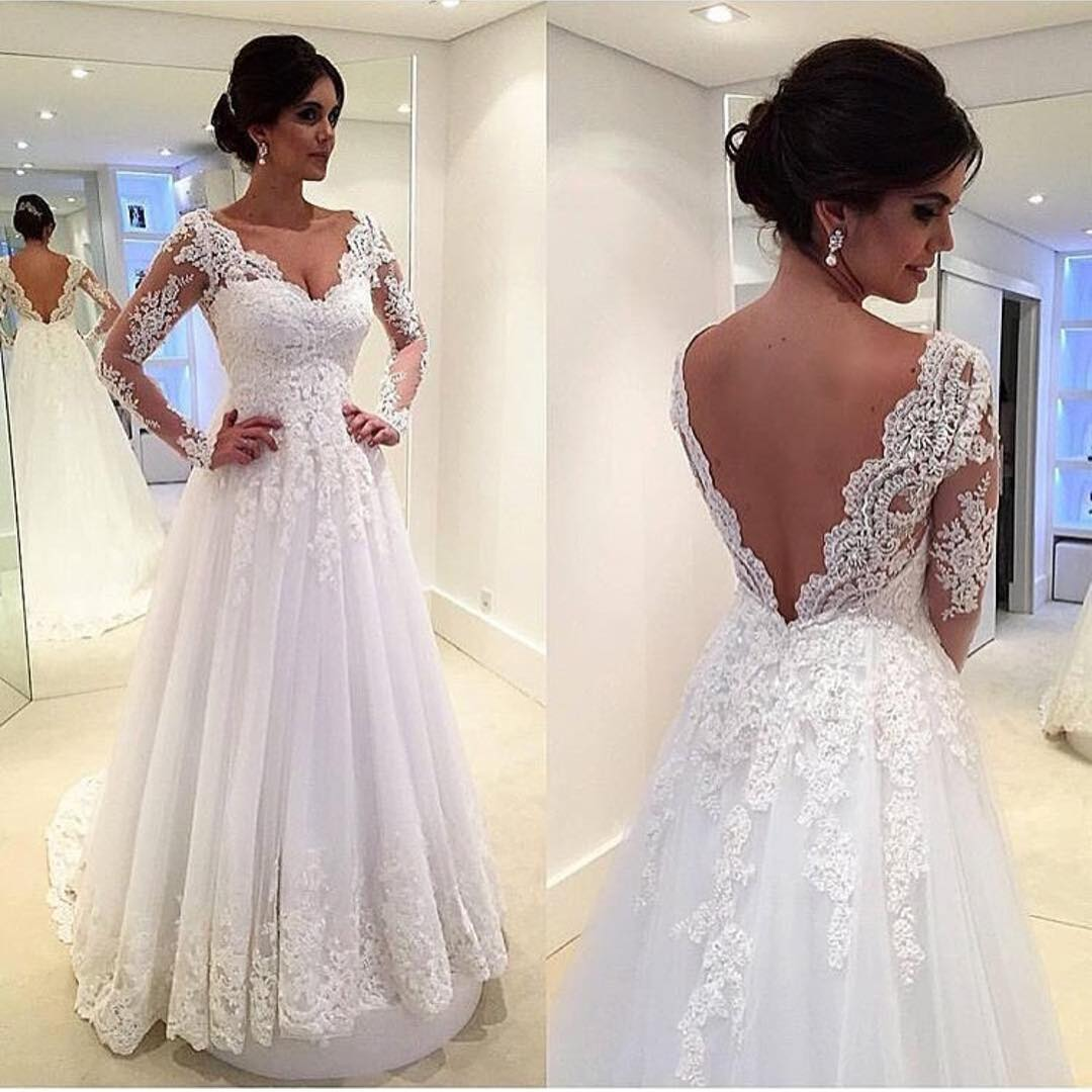 Lace Wedding Dresses,Long Sleeves Wedding Gowns,White Bridal Gowns from 21weddingdresses