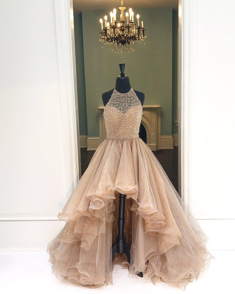 Halter High-Low Beading Prom Dress,Long Prom Dresses,Charming Prom ...