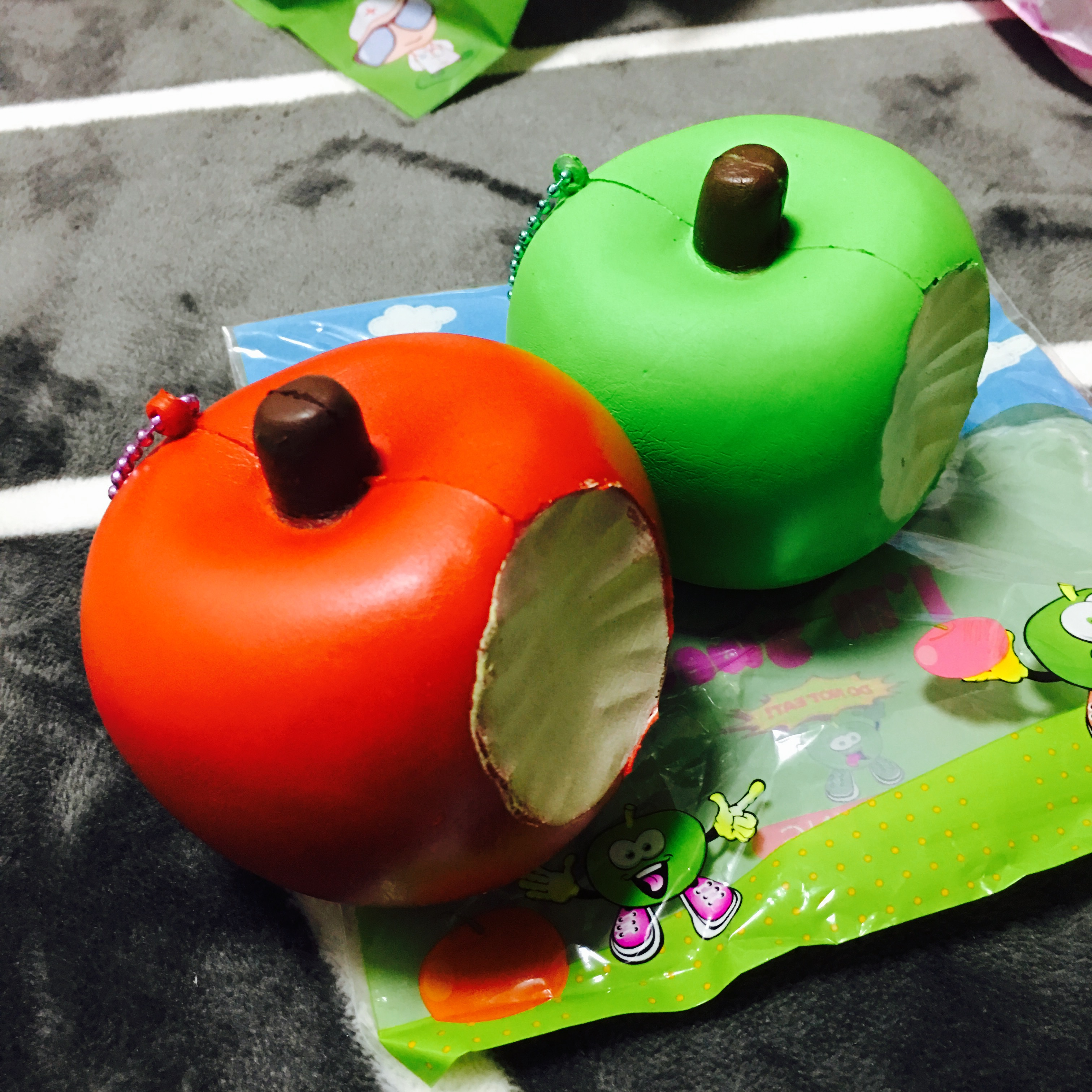 Large Squishy Ball : ~SquishyStuff~ Large Bitten Apple Squishy Ball Chain Online Store Powered by Storenvy