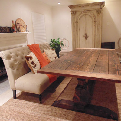 dining tables online usa. carroll dining table, trestle urn, farmhouse, reclaimed wood, custom, handcrafted, tables online usa