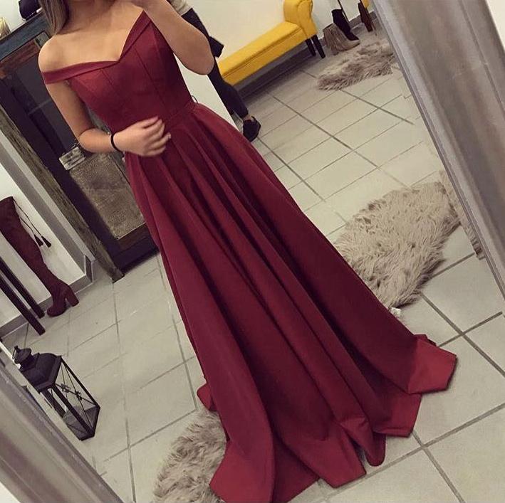 Elegant Ball Dresses Burgundy