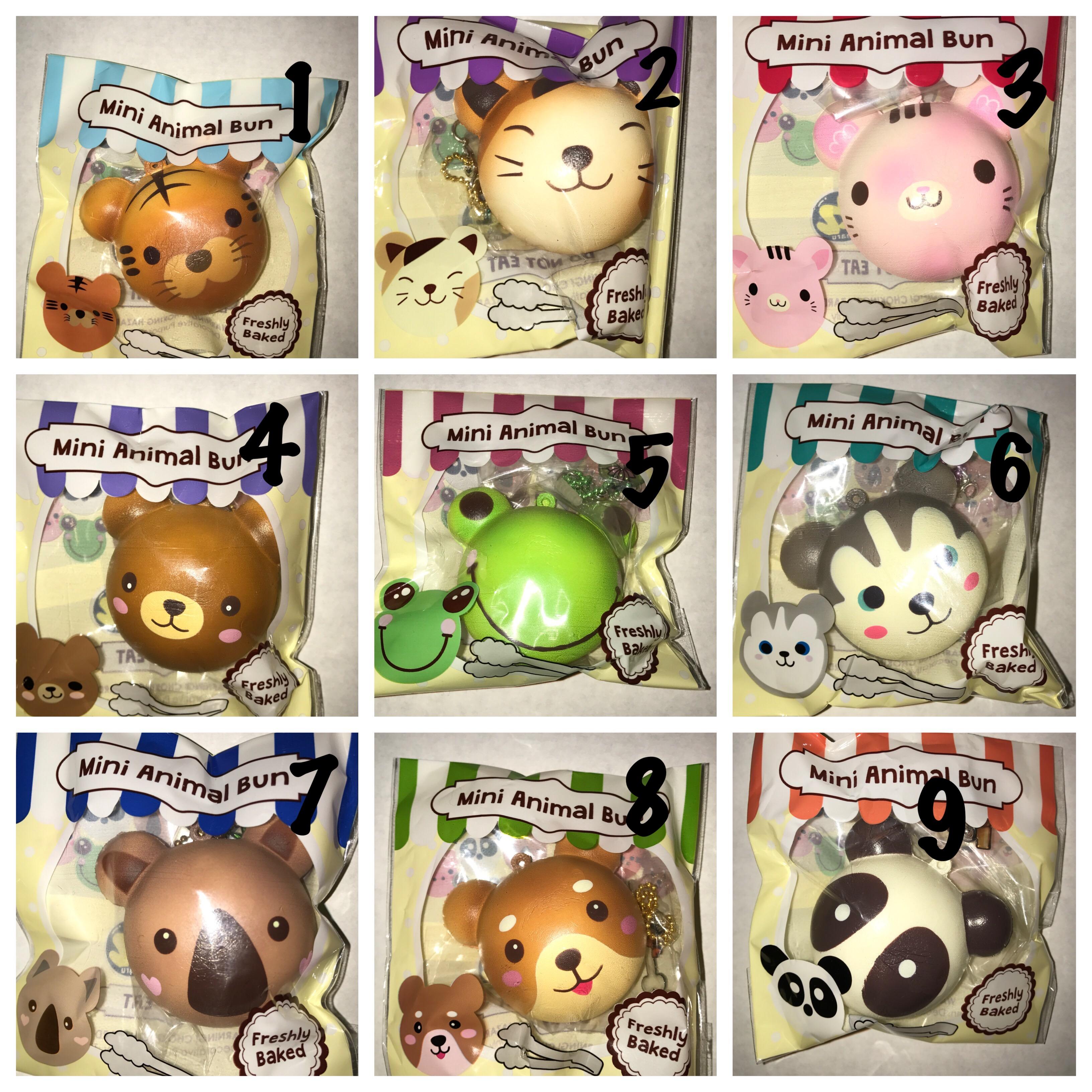 Puni Maru Mini Animal Bun Squishy ? Ilovesquishies803 ? Online Store Powered by Storenvy