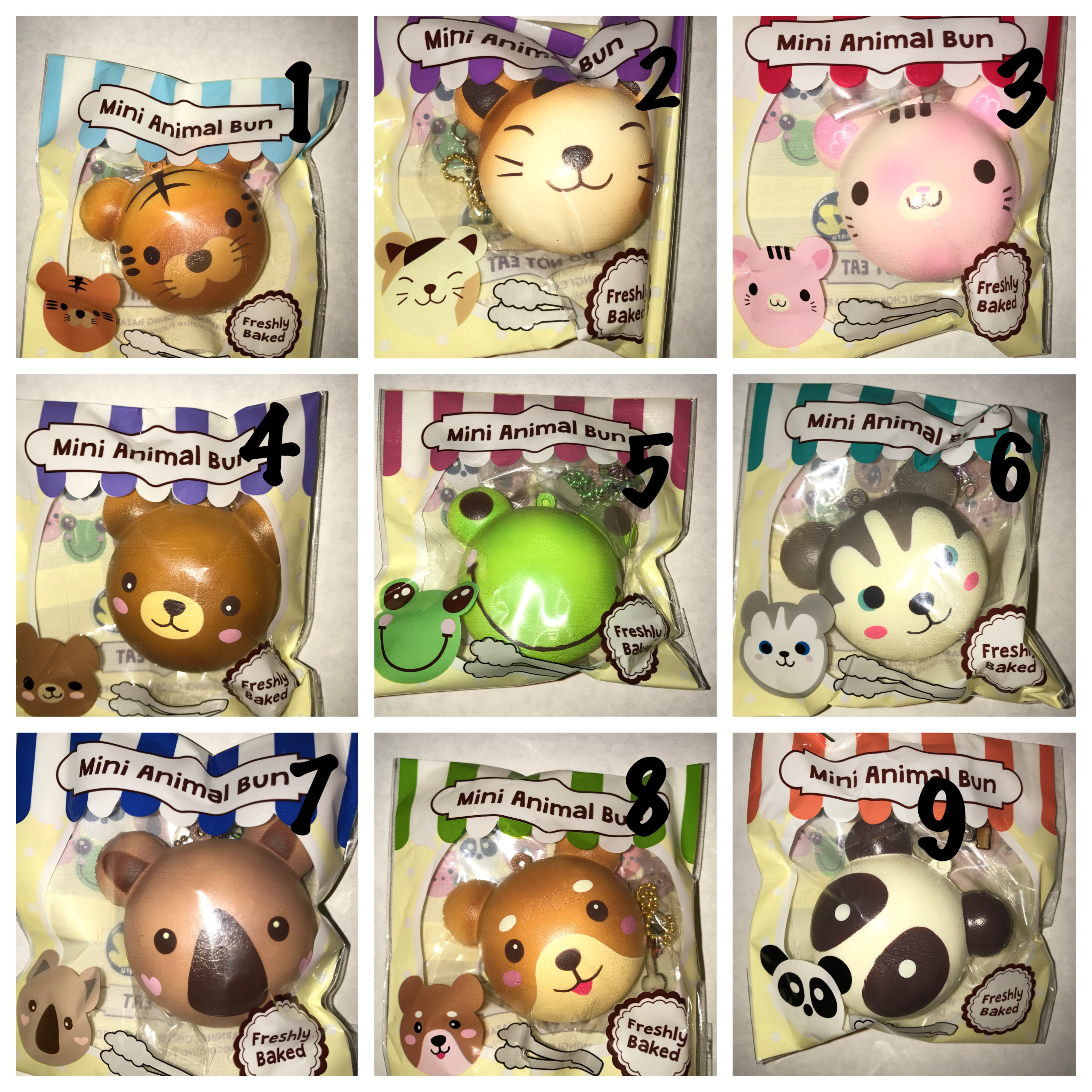 Squishy Animal Buns : Puni Maru Mini Animal Bun Squishy ? Ilovesquishies803 ? Online Store Powered by Storenvy