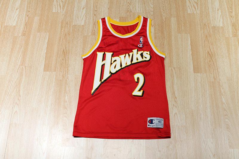Slam vintage stacey augmon hawks jersey old school for Hawks t shirt jersey