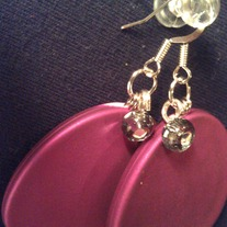 Matte Pink Disc Earrings