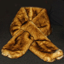 Light Mink Faux Fur Scarf
