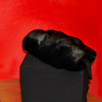 Black Mink Faux Fur Hand Warmer
