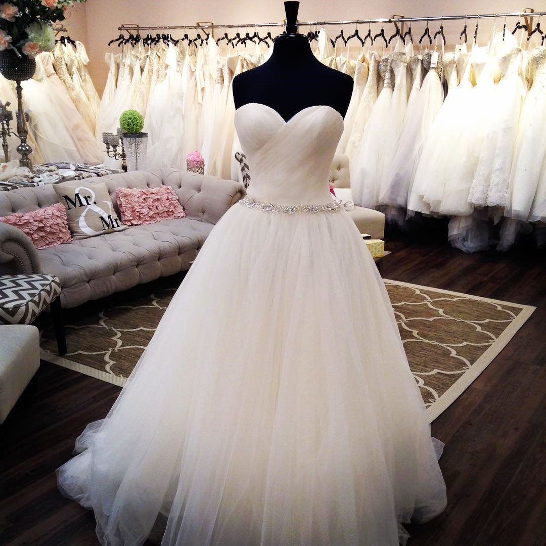 Tulle Wedding Dress,A Line Wedding Dresses,Elegant Bridal Dresses ...