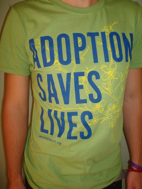 """Adoption Saves Lives"" shirt - Kiwi"