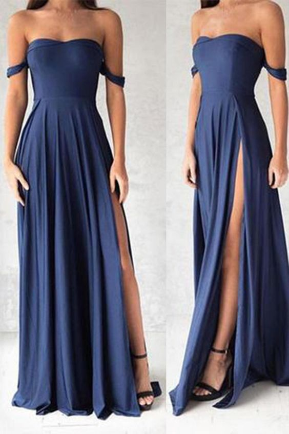 Simple Chiffon Prom Dresses