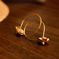 Pinhook Tiny Goldfill Hoop Earrings