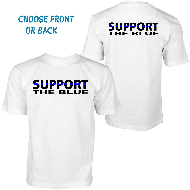 Support Blue lives matter t-shirts custom made summer time tee ...