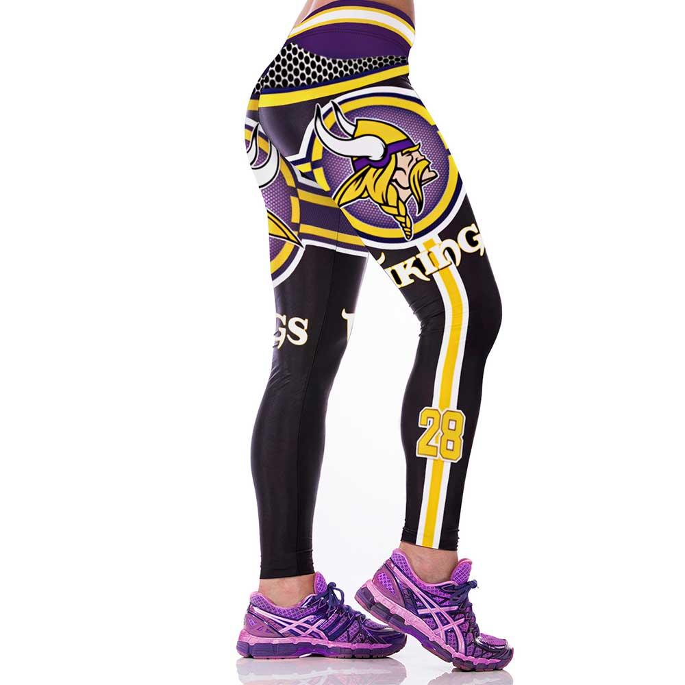 e45afb9331d63 New Minnesota Vikings NFL Women Leggings Fitness Sports Gym - Thumbnail ...