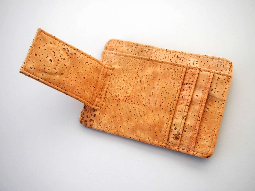 Cork All in One Card Holder with Money Clip Business Card Holder ...