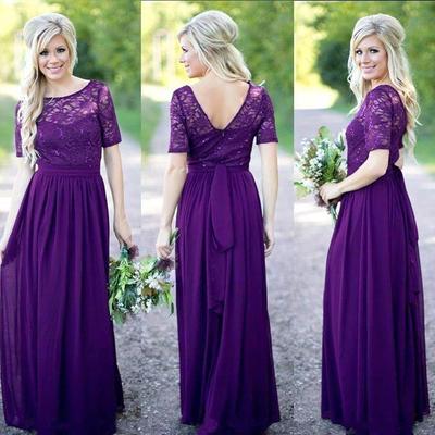 Purple Wedding Party Dresses