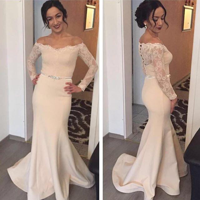 New Full Long Sleeve Evening Dress,Mermaid Evening Dress,Formal ...