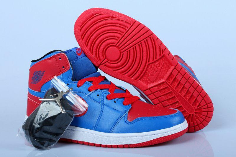 bc426fbebf899 Nike Air Jordan 1 Mens Air Cushion Blue Red · Sneakeronline · Online ...