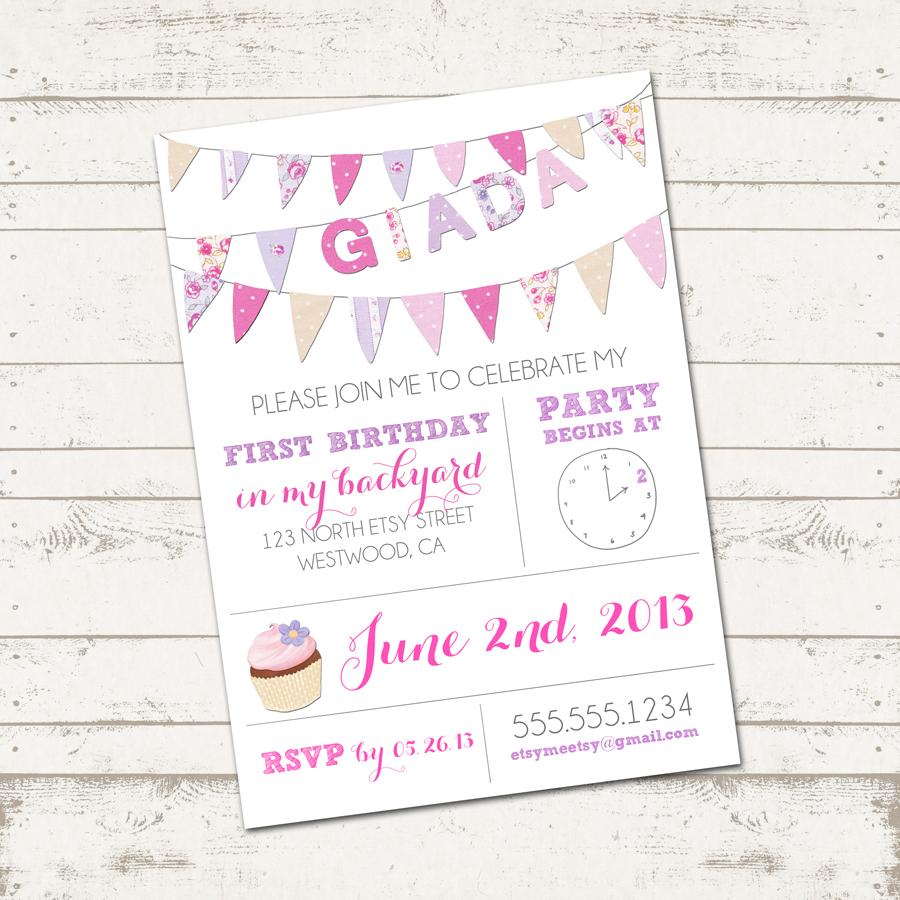 Valerie Pullam Designs | Girls Birthday Invitation ...
