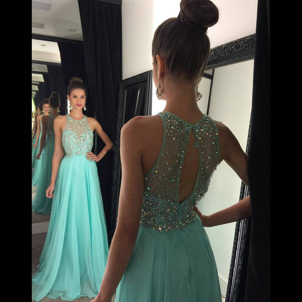 Fashion Long Prom Dress Party Dress With Beading · Promtailor ...