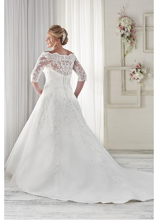 D287 Plus Size Wedding Dresses, Half Sleeve Wedding Bridal Gowns ...
