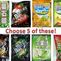 5 bags of Chinese Hard Candies (Choose your Flavors)