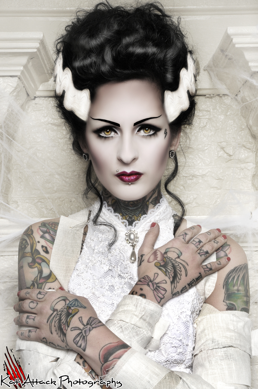 Kat Attack Photography | Bride of Frankenstein 11x14 PRINT Tattoo ...: katattackphotos.storenvy.com/products/209831-bride-of-frankenstein...