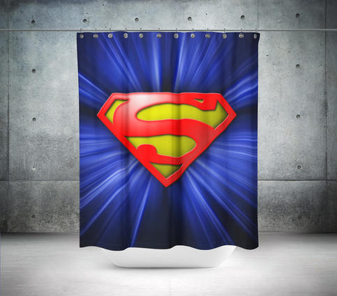 Superman Logo Shower Curtain On Storenvy