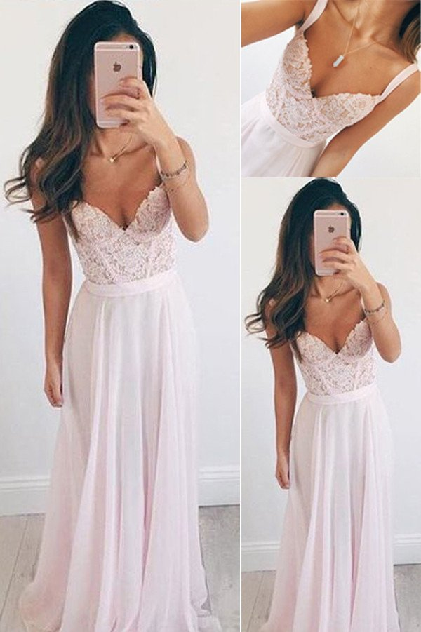 Pink Chiffon Prom Dresses, Elegant Prom Gowns,Homecoming Dresses ...