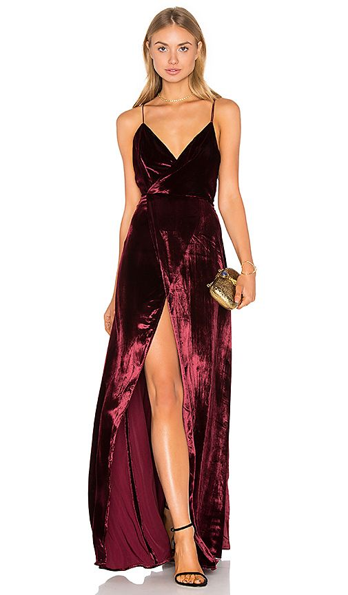 Long Prom Gowns Evening Dress ,Burgundy Slit prom dress,prom dresses ...