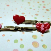 Heart Bobby Pins
