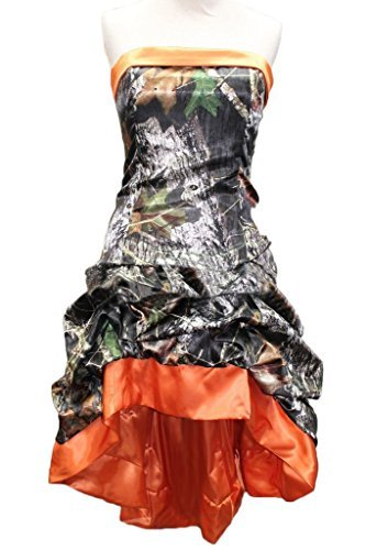 Chic Hi-Lo Camo Prom Dress Strapless Lace-Up Back Wedding Party ...