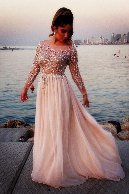 Prom Dress With Long Sleeves Prom Dressesgraduation Party Dresses