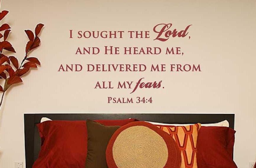 Wall Decal Scripture Psalms 34:4