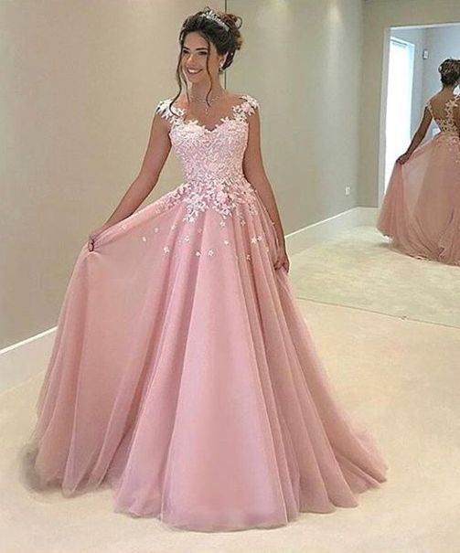 F129 Lace Appliques Long Prom Gowns, New Fashion Lady Dresses ...