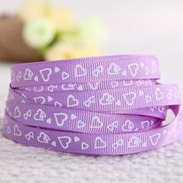 Purple Hearts Grosgrain Ribbon