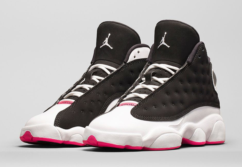 air jordans 13 black hyper pink and white stripes