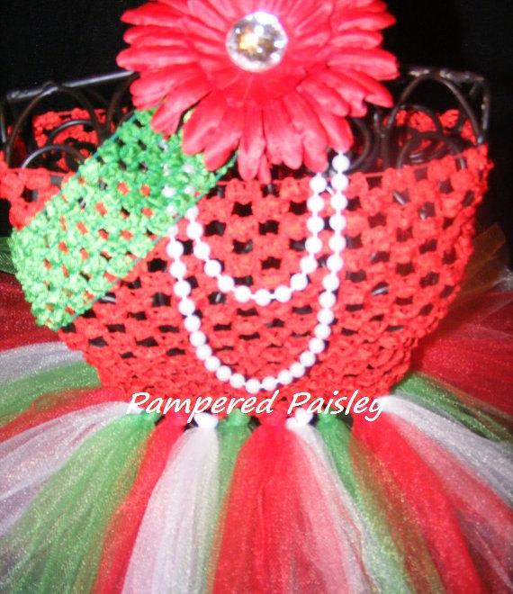 Dress christmas party tutu with matching headband 0 3 month wedding