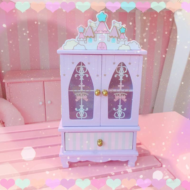 swimmer jp cute castle magical kawaii adorable jewellery box