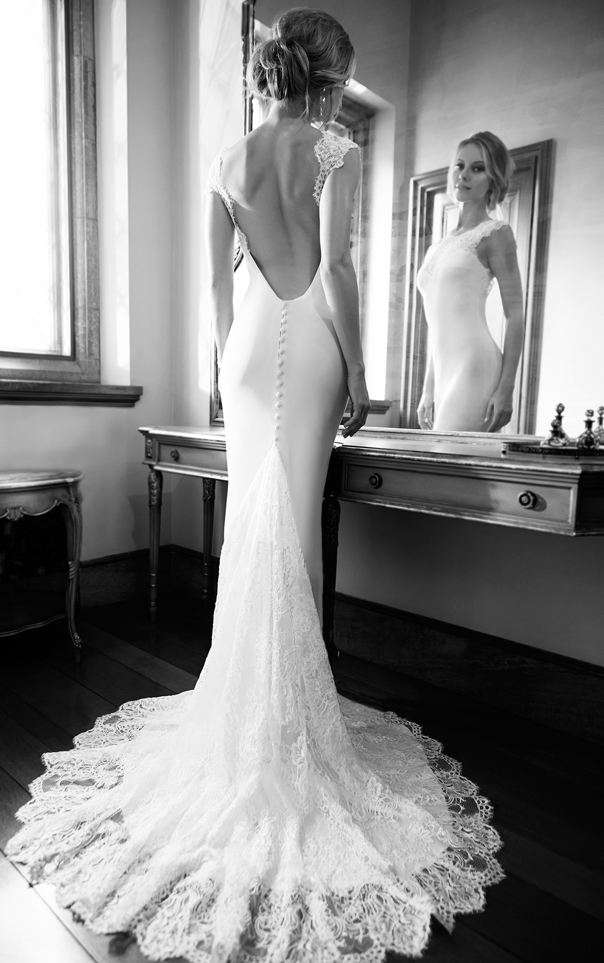 D368 Lace Long Sleeve Backless Mermaid Wedding Bridal Gowns,Unique ...