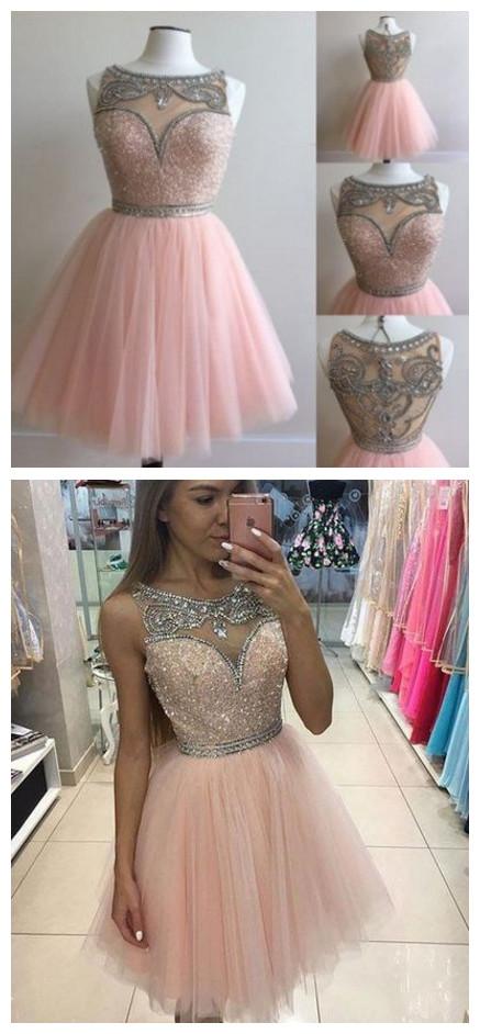 Pink Charming Homecoming Dresses Homecoming Dressescute Homecoming
