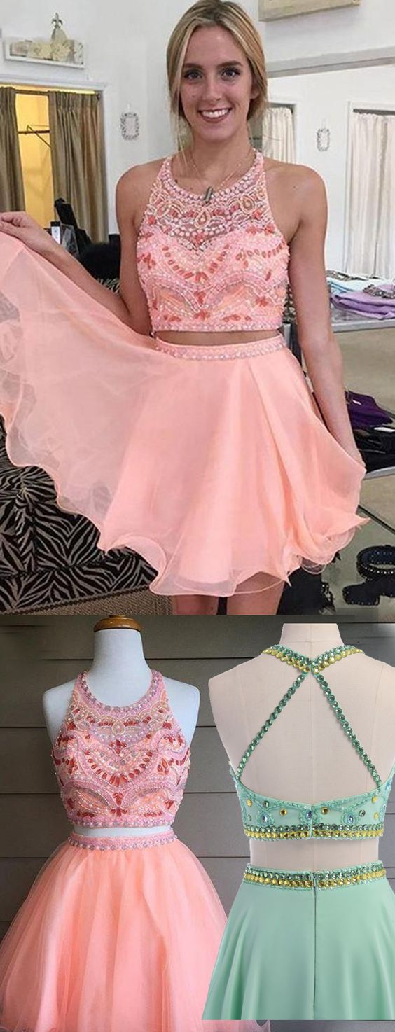 Homecoming Dresses Short Prom Dresses,2 pieces Homecoming Dresses ...