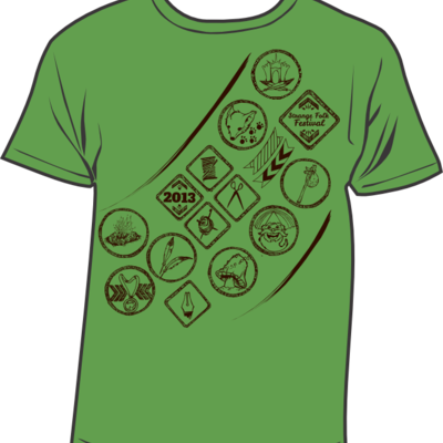 Leaf green strange folk 2013 t-shirt