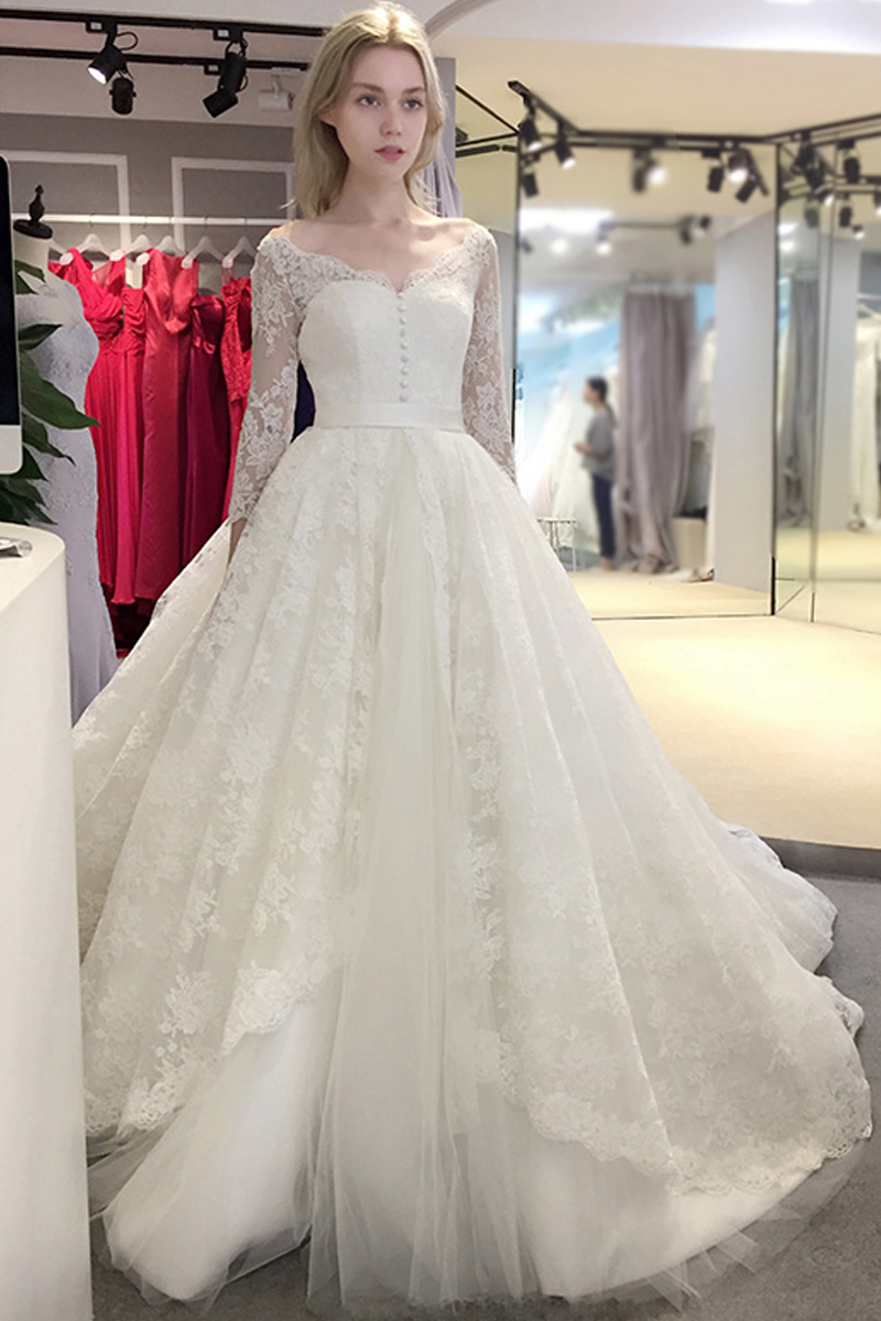 XP340 2017 spring Newest elegant wedding dress v -neck design with ...