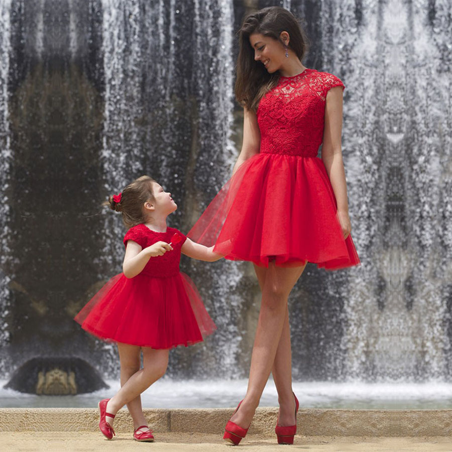 Red Prom Dresses, New Short Homecoming Dresses, Cute Tulle Lace ...