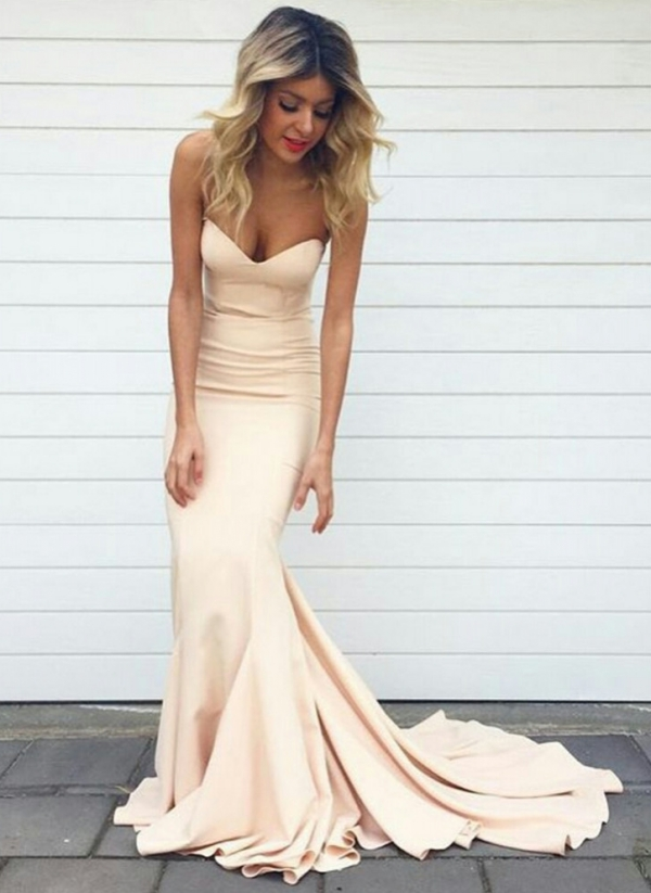 Mermaid Strapless Long Prom Dresses,Mermaid Evening Gowns 2615 ...